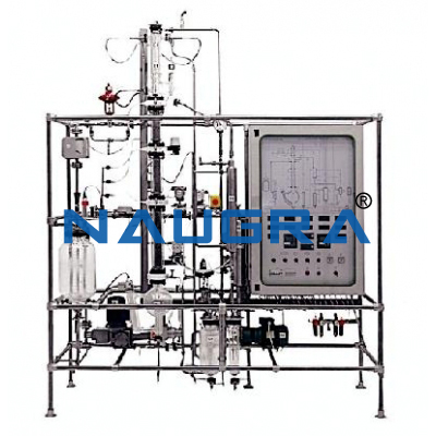 Manual Combined Extraction And Distillation Pilot Plant