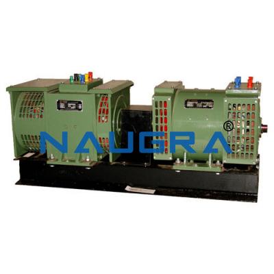 Dc shunt motor 3 phase salient pole alternator set