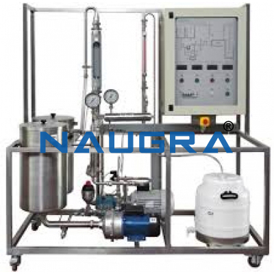 Manual Continuous Reaction Pilot Plant With Continuous Stirred Tank Reactor