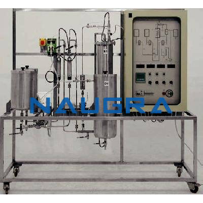 Manual Stirred Continuous Reaction Pilot Plant With Reactors In Series