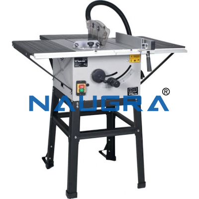 SLIDING CIRCULAR SAW TABLE WITH TILTING ARBOR C/W DUST EXTRACTOR