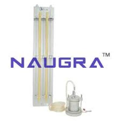 Permeability Fluidisation Studies Apparatus