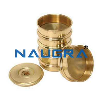 Full brass frame sieve set